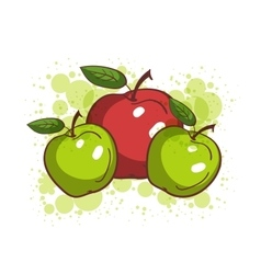 Colorful SKetch Apples vector image