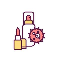 Cosmetics environmental impact rgb color icon vector