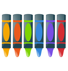 crayons in many colors vector image
