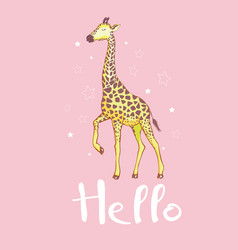 cute giraffe isolated icon design vector image