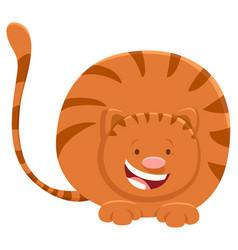 cute red cat cartoon animal character vector image
