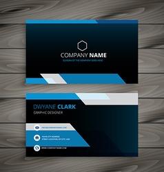 Dark blue business card vector