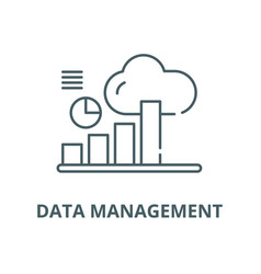 data management line icon linear concept vector image