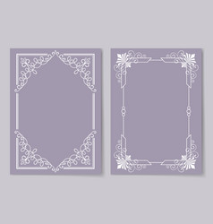 decorative frames set curved graphic ornament vector image