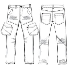 Denim trousers vector image