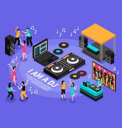 dj and music vector image