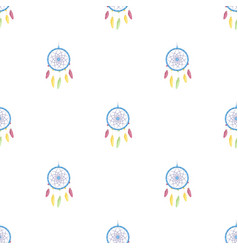 Dream catcher with feathershippy single icon in vector