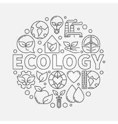 Ecology round symbol vector image