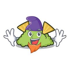 Elf guacamole character cartoon style vector