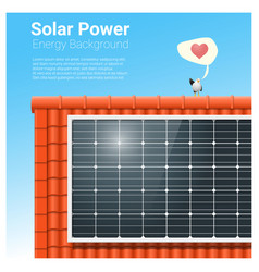 Energy concept background with solar panel 4 vector