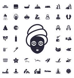 Face mask icon vector