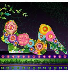 flora linda vector image