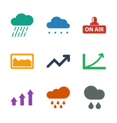 Forecast icons vector