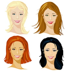 four representative of women vector image