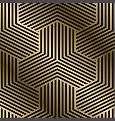 geometric striped pattern - seamless luxury vector image