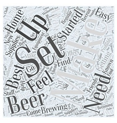Getting Set Up to Make Beer Word Cloud Concept vector image