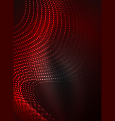 Glowing wave created with particles on dark color vector