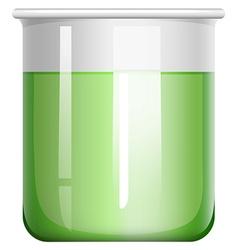 Green solution in glass beaker vector image