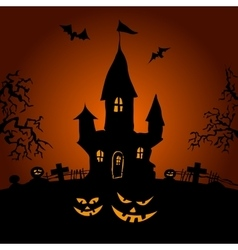 Happy Halloween party text design vector image