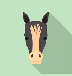 horse head icon flat style vector image