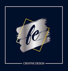 Initial letter fe logo template design vector