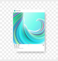 Instagram photo frame gradient background vector