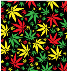 Jamaican marijuana pattern vector
