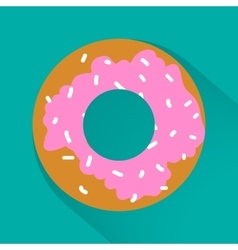 Junk food flat style icons for your design vector image vector image