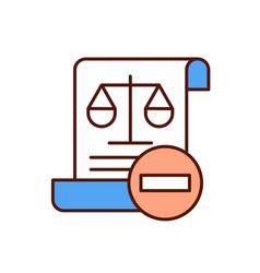Law violation rgb color icon vector