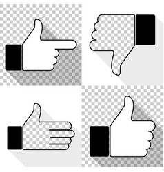 Like icon set thumb up vector