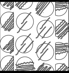 Line abstract circle memphis style background vector