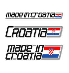 Made in croatia vector