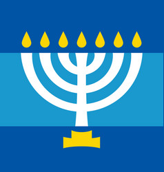 menorah ancient hebrew sacred seven-candleholder vector image