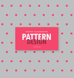 Minimal gray background with pink polka dots vector