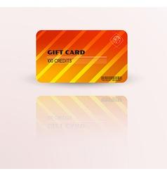 Modern gift card template vector