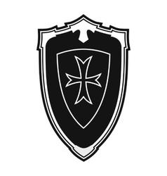 Nice shield simple icon vector image