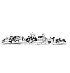old russian city landscape kostroma kremlin vector image