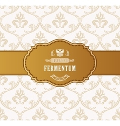 Oval golden frame luxury packing in art vector