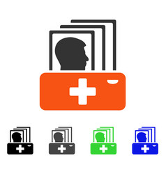 Patient catalog flat icon vector