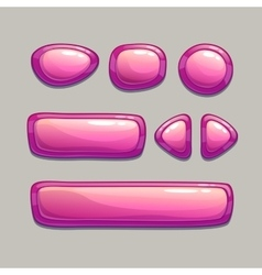 Pink buttons vector
