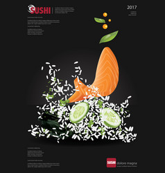 Poster of sushi restaurant vector
