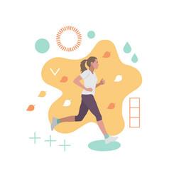 running woman autumn fashion abstract vector image