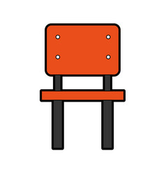 School chair isolated icon vector