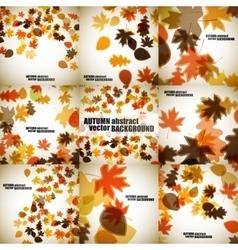 Set of autumn backgrounds vector