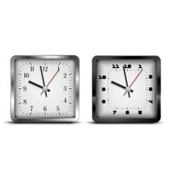 Square clock vector image