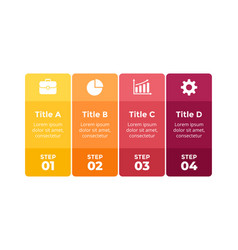squares colorful infographic 4 parts vector image