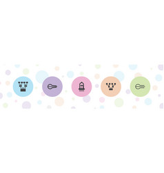 Stroke icons vector