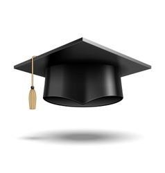 Student hat vector image