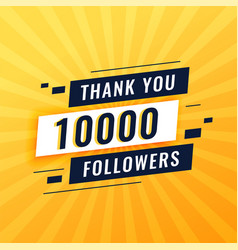 Thank you poster for 10k social media followers vector