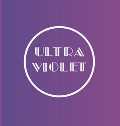 Ultra violet color vector